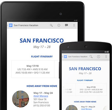 Google Docs app for android