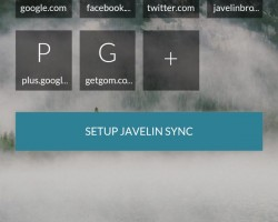 javelin welcome page