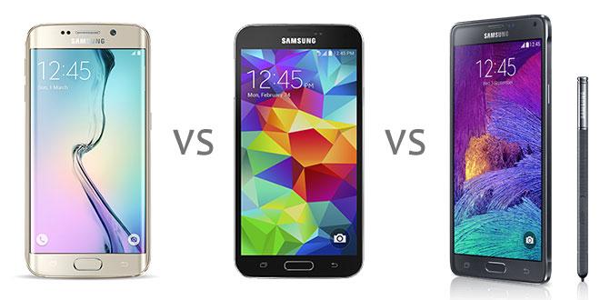Note4 VS S6 VS S5