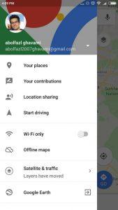 تنظیمات google maps