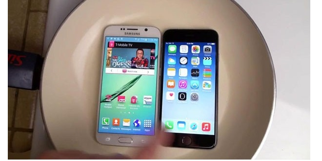 Galaxy-S6-vs-iPhone-6-hot-water