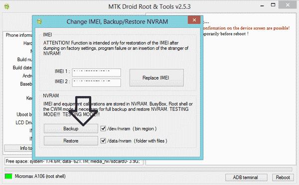 mktdroidtools  آموزش بکاپ و رستور اطلاعات IMEI / NVRAM 25