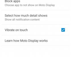 motorola_moto_g 2015 moto display settings