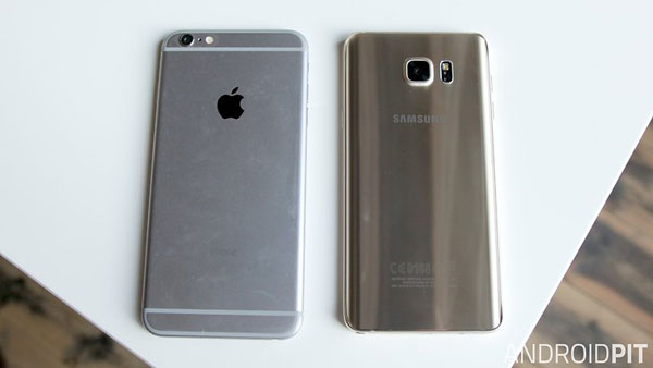 samsung galaxy note 5 iphone 6 plus back