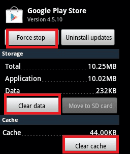 clear data cache