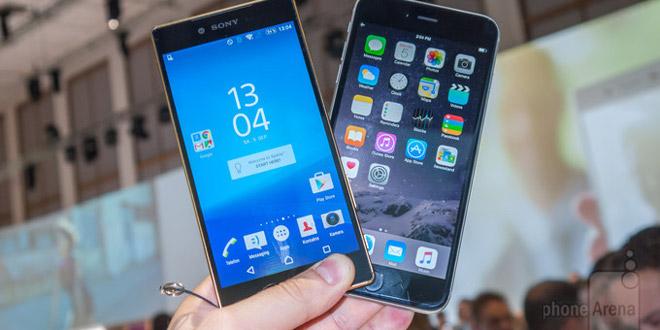 xperia z5 premium vs iphone 6 plus