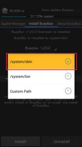 Choose System Xbin