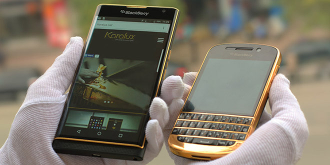 gold blackberry priv