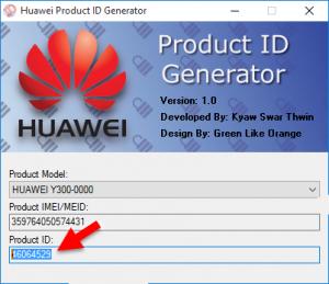 huawei product id generator copy