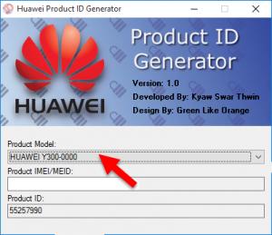huawei product id generator model