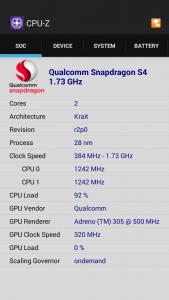 CPU-Z Main menu