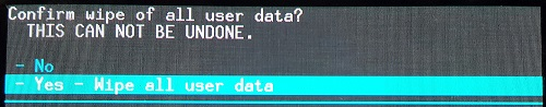 Confirm Wipe Data_Factory Reset