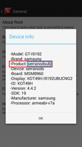 Product=Device Code Name