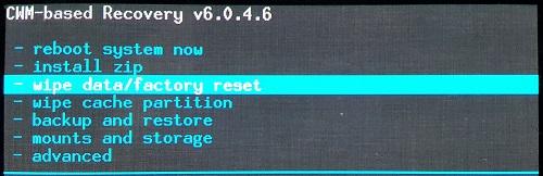 Wipe Data_Factory Reset