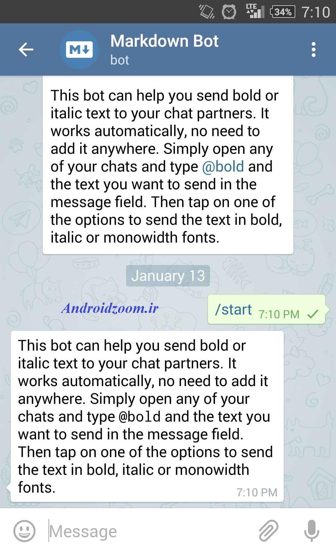 رفتن به @bold