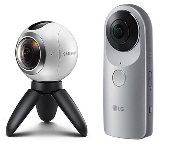 Samsung Gear 360 and the LG 360 CAM 360-degree cameras