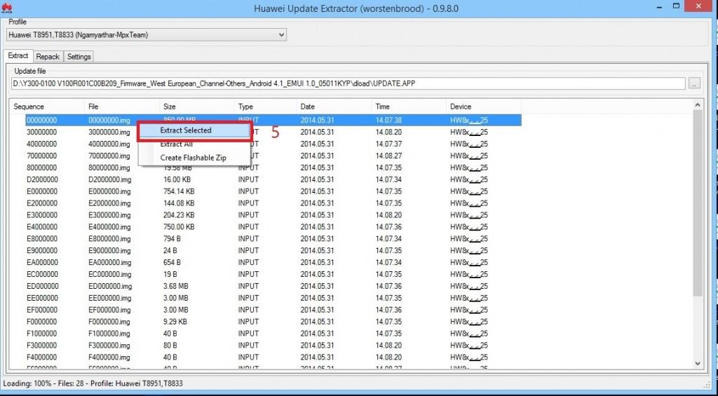 آموزش جامع دانگرید گوشیهای هواویو دومین فایل از نظر بالا بودن حجم رو استخراج کنید و اسمش رو بذارین recovery.img. 5