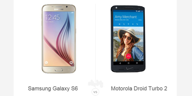 Samsung Galaxy S6 vs Motorola Droid Turbo 2
