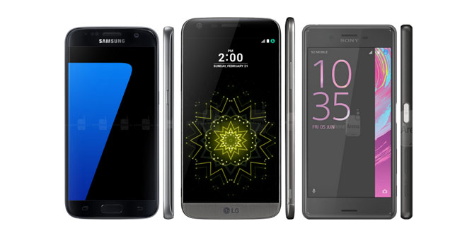 Galaxy S7 vs G5 vs Xperia X Performance