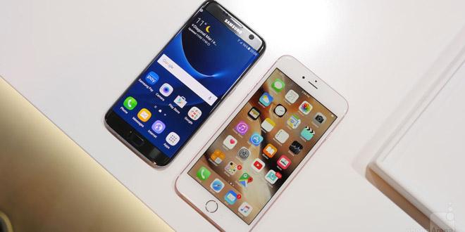 Samsung Galaxy S7 edge & Apple iPhone 6s Plus