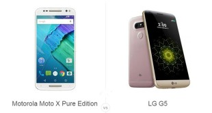 Motorola Moto X Pure Edition vs LG G5