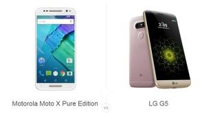 Motorola Moto X Pure Edition vs LG G5