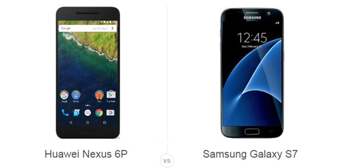 Huawei Nexus 6P vs Samsung Galaxy S7