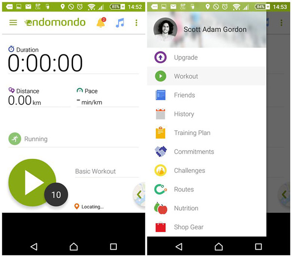 Android health and fitness apps