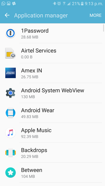 galaxy s7 move apps