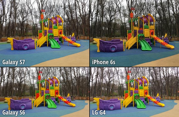 Galaxy S7 vs iPhone 6s Galaxy S6 LG G4
