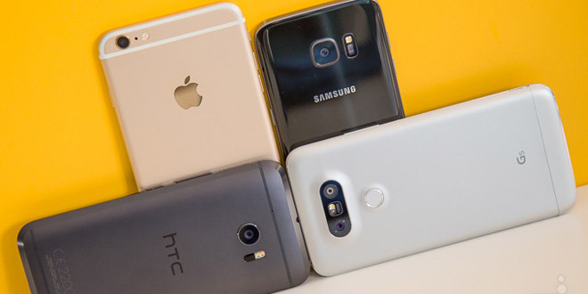 HTC 10 vs iPhone 6s Plus Galaxy S7 LG G5