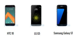 HTC 10 vs LG G5 vs Samsung Galaxy S7