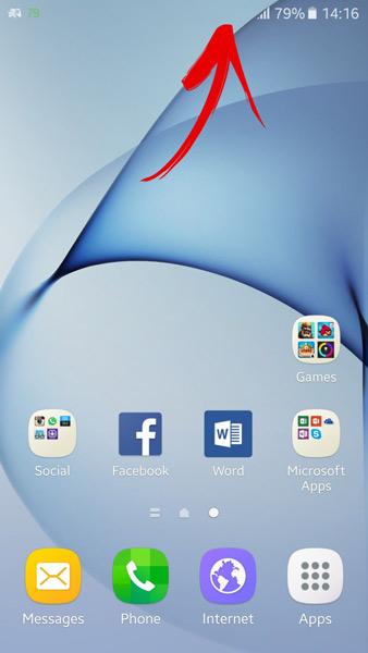 صفحه نمایش همیشه روشن Galaxy S7/S7