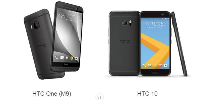 HTC One M9 vs HTC 10