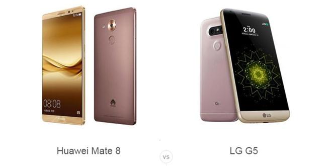 هوآوی میت 8 VS ال جی G5