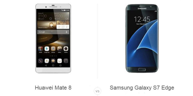 Huawei Mate 8 vs Samsung Galaxy S7 Edge