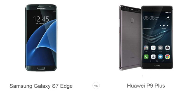 Galaxy S7 Edge vs Huawei P9 Plus