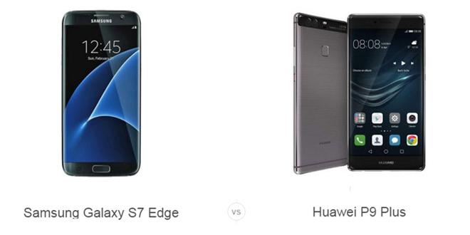 Galaxy S7 Edge vs Huawei P9 Plus