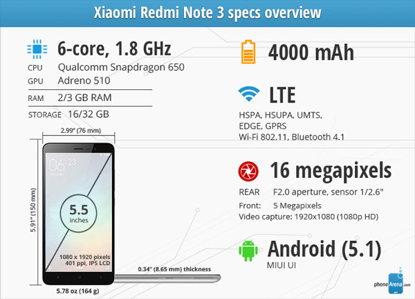 شیائومی Redmi Note 3