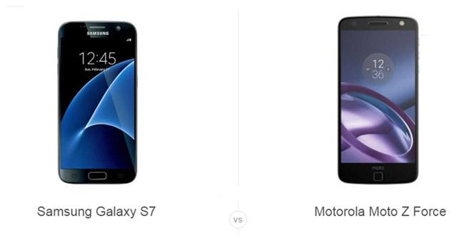 سامسونگ Galaxy S7 و Moto Z Force