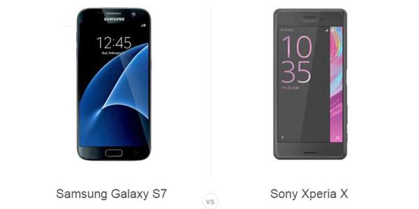 Sony Xperia X با سامسونگ گلکسی S7