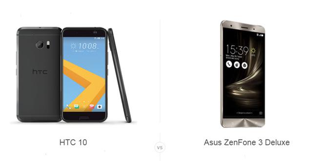 HTC 10 vs ASUS ZenFone 3 Deluxe