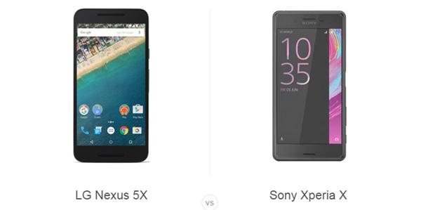 سونی اکسپریا vs X نکسوس 5X