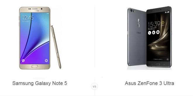 Galaxy Note 5 و ZenFone 3 Ultra