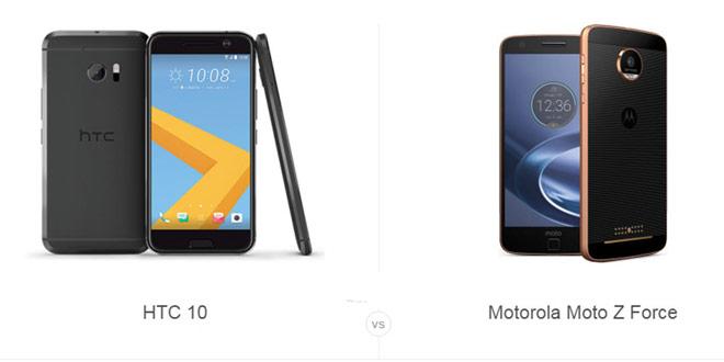 HTC 10 و Moto Z Force
