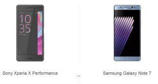 گلکسی Note 7 و سونی اکسپریا X Performance
