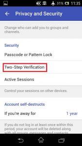 افزایش امنیت تلگرام