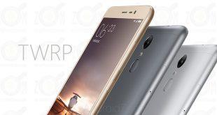TWRP for Xiaomi Redmi Note 3 MTK