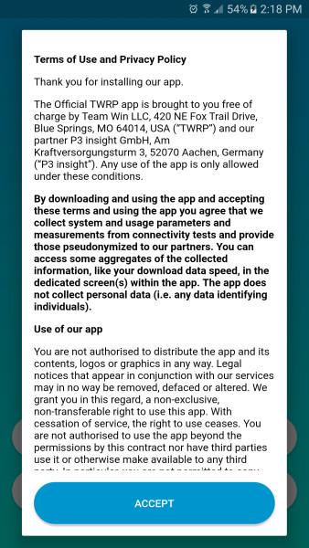 دانلود Official TWRP App اپلیکیشن رسمی ریکاوری های TWRP