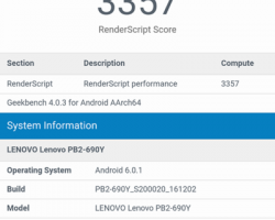 Lenovo Phab 2 Pro Tango Benchmarks